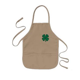 Lucky 4 Leaf Irish Clover kids chef apron