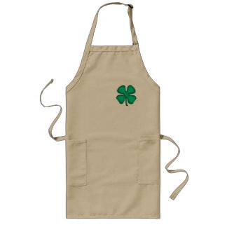 Lucky 4 Leaf Irish Clover long chef apron