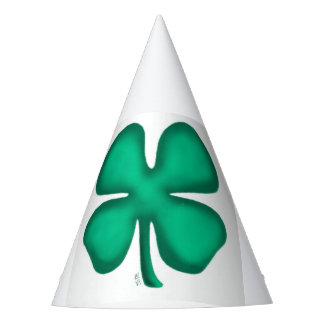 Lucky 4 Leaf Irish Clover party hat