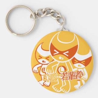 Lucky 7 Mascot Basic Round Button Keychain