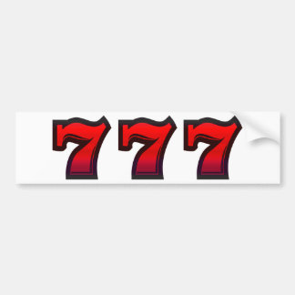 Lucky 7s bumper sticker