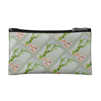 LUCKY BAMBOO MONOGRAMED COSMETIC/CLUTCH BAG MAKEUP BAGS