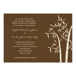 Lucky Bamboo Wedding Invitation - Brown
