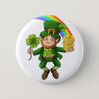 Lucky Bitcoin Rainbow Leprechaun 2 Inch Round Button