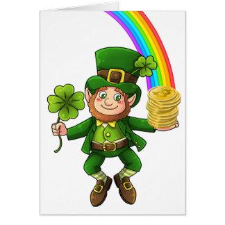 Lucky Bitcoin Rainbow Leprechaun Card