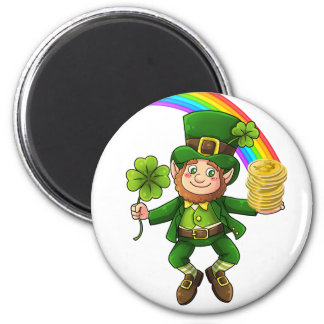 Lucky Bitcoin Rainbow Leprechaun Magnet