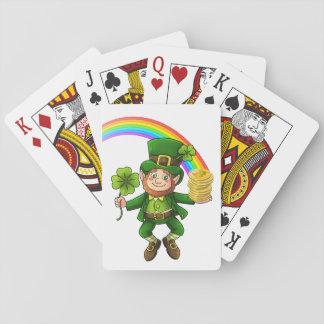 Lucky Bitcoin Rainbow Leprechaun Playing Cards