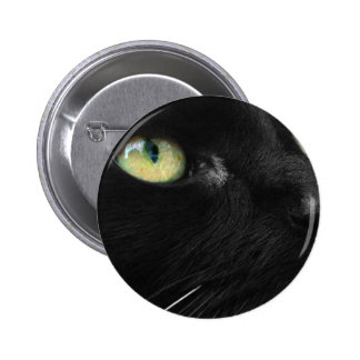 Lucky Black Cat 2 Inch Round Button