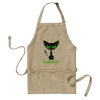 Lucky Black Cat Apron / Smock