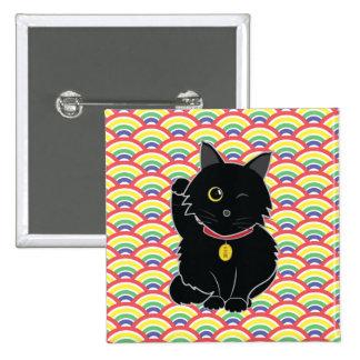 Lucky Black Cat Zelda Button