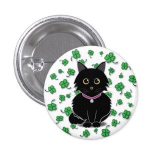 Lucky Black Cat Zelda Clover Button