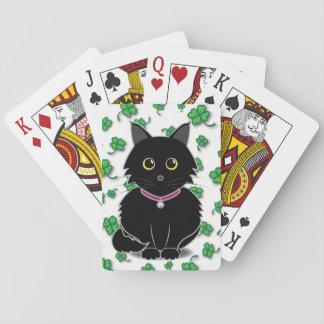 Lucky Black Cat Zelda Clover Playing Cards