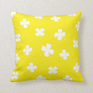 lucky canary yellow throw pillow