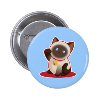 Lucky Cat 2 Inch Round Button