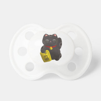 Lucky Cat Black Pacifier