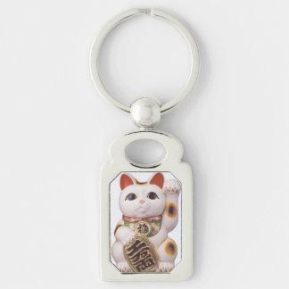 Lucky Cat Charm Keychain