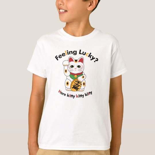 Lucky Cat Kid's T Shirts