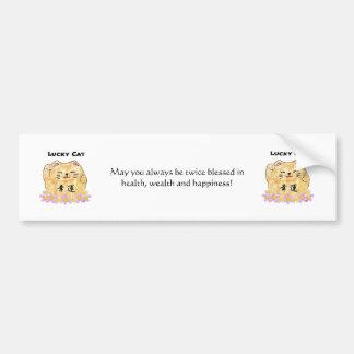 Lucky Cat (Maneki Neko) Bumper Sticker