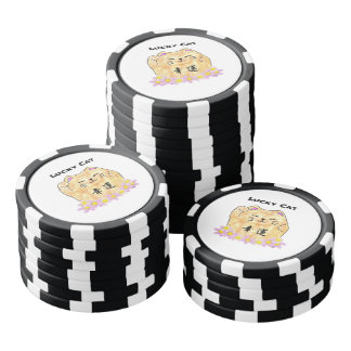 Lucky Cat (Maneki Neko) Clay Poker Chips