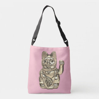 Lucky cat, Maneki-neko Crossbody Bag