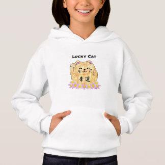 Lucky Cat (Maneki Neko) Girls' Hoodie