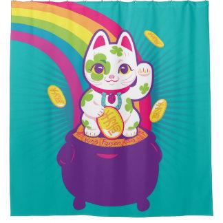 Lucky Cat Maneki Neko Good Luck Pot of Gold