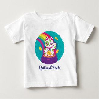 Lucky Cat Maneki Neko Good Luck Pot of Gold Baby T-Shirt