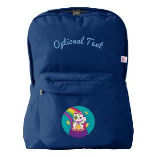 Lucky Cat Maneki Neko Good Luck Pot of Gold Backpack
