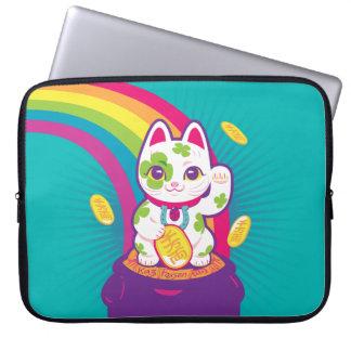 Lucky Cat Maneki Neko Good Luck Pot of Gold Laptop Sleeve