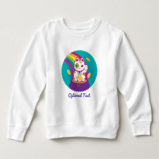 Lucky Cat Maneki Neko Good Luck Pot of Gold Sweatshirt