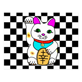 Lucky Cat Maneki Neko Kitty Postcard
