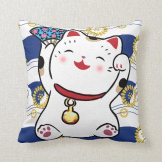 Lucky Cat Maneki Neko Pillow