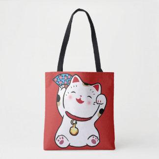 Lucky Cat Maneki Neko Tote