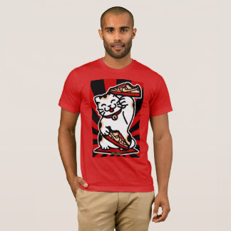 Lucky Cat Men's Basic Red American Apparel T-Shirt
