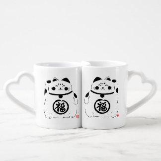 Lucky Cat Pair of Mugs
