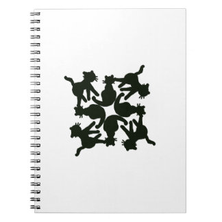 lucky cat pattern,cat picture art notebooks