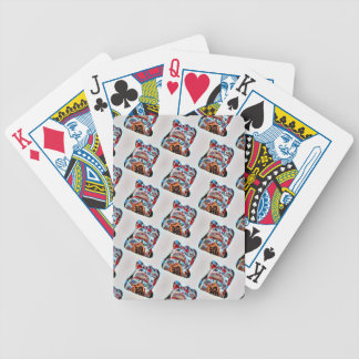 Lucky Cat Power Bicycle Playing Cards