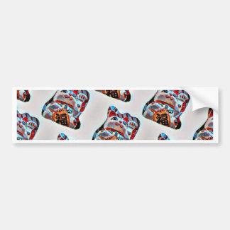 Lucky Cat Power Bumper Sticker