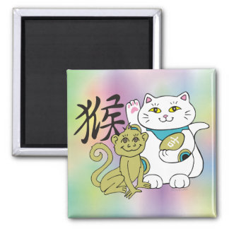 Lucky Cat Year of the Monkey Magnet