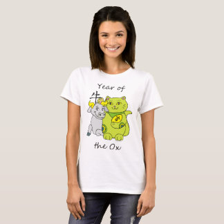 Lucky Cat Year of the Ox T-Shirt