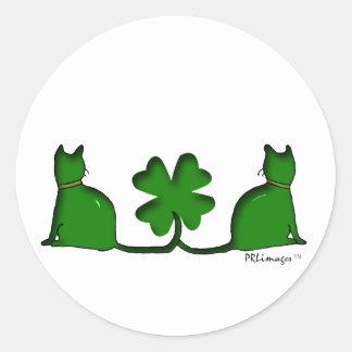 Lucky Cats Round Sticker