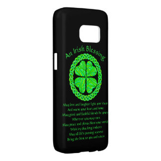 Lucky Celtic Shamrock Four Leaf Clover Green Irish Samsung Galaxy S7 Case