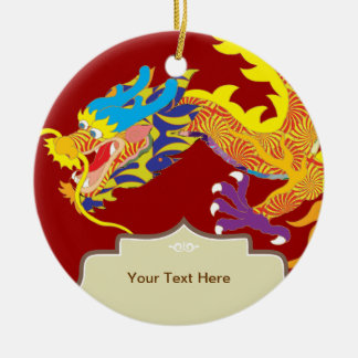 Lucky Charm Chinese Dragon Ceramic Ornament