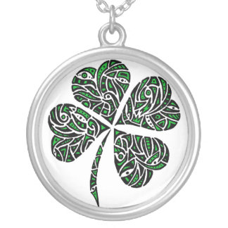 Lucky Charm Round Pendant Necklace