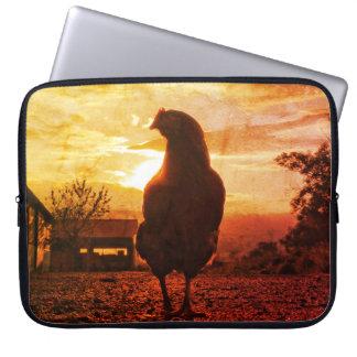 Lucky chicken laptop sleeve