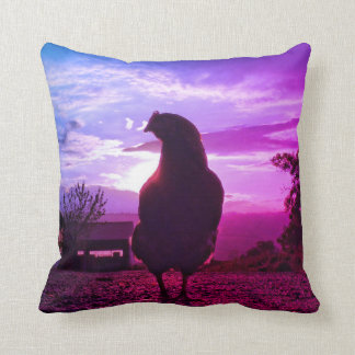 Lucky chicken throw pillow