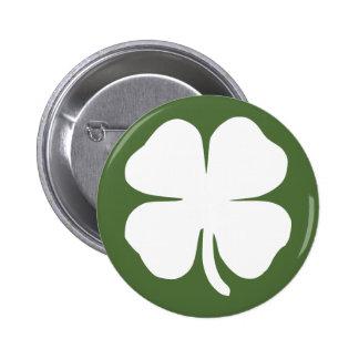 Lucky Clover 2 Inch Round Button