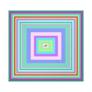 Lucky Clover at Centre of Colour Pattern, ext sml Canvas Print