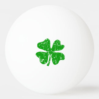 Lucky clover flag ping pong balls for table tennis