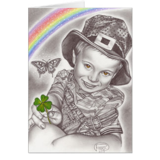 Lucky Clover greeting card